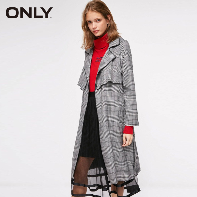 ONLY Autumn Adjustable Sleeves   Trench   Long Wind Coat |118336549