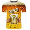 Aliexpress vendem como bolos quentes homens/menino de Verão com mangas curtas bolha cerveja 3D Tshirt roupa pai-filho футболка мужская tops