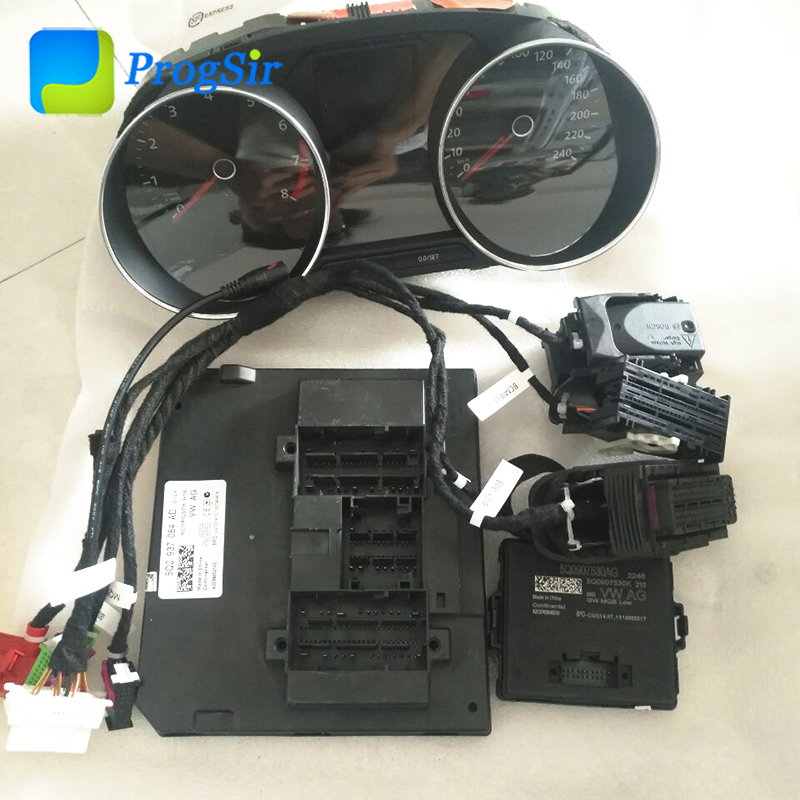 MQB Test Platform Full Set With Odometer, Come With Gateway, BCM, ECU Cable, Dashboard, Power Supply