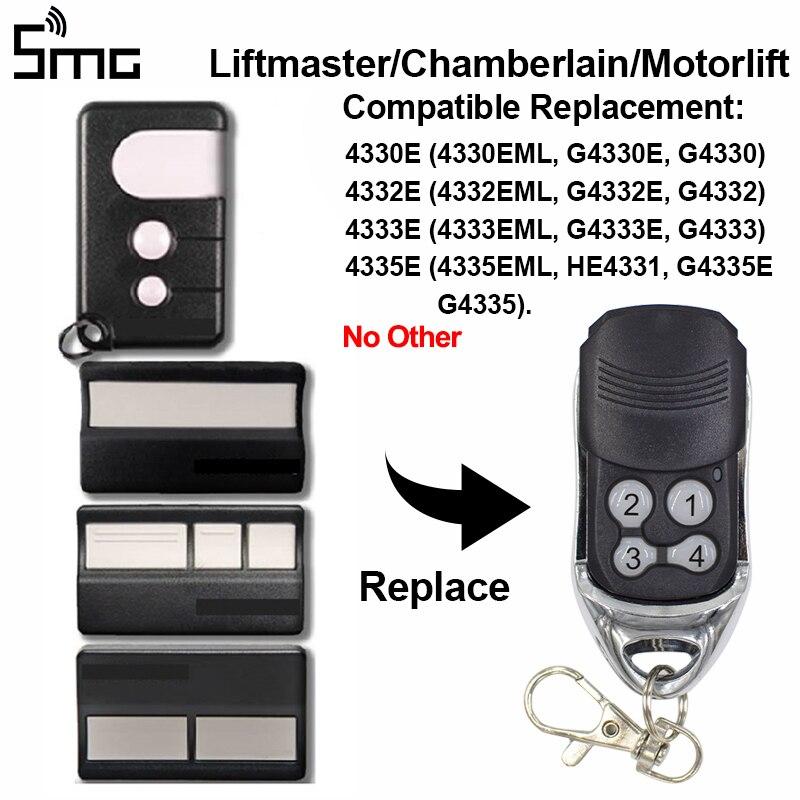 Chamberlain Liftmaster 4335E 4333E 4332E 4330E Remote Control Garage Door Opener 433.92mhz Garage Controller Remote Transmitter