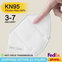KN95 Face Mask Anti Virus N95 Mouth Masks PM2.5 Anti Smog Strong Protective than KF94 Dust Proof 3-7 day DHL FedEx Fast Shipping