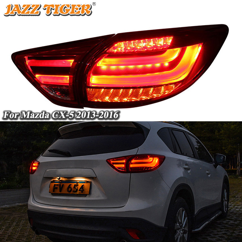 LED Rear Running Lamp + Brake Light + Turn Signal Car LED Tail Light Taillight For Mazda CX-5 CX5 2013 2014 2015 2016