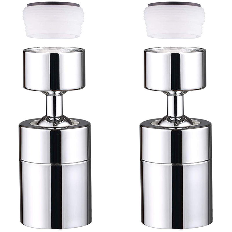 Kitchen Sink Faucet Aerator Copper 80 Degree Large Angle Rotary Faucet Aerator 2 Pack Nozzles Kitchen Faucet Accessories Rotary