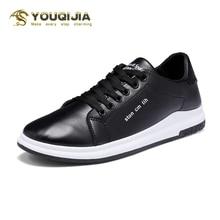 Fashion Men Casual White Shoes Hot Sale Leisure Flat Shoes Sports Black Shoes Driving Shoes Lace Walking Run Skateboard Shoes недорого