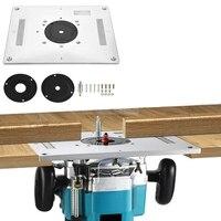 Universal Elektrische holz fräsen trimmen maschine Flip Platte guide tabelle Router Tisch Insert Platte Für Holzbearbeitung Werkbank-in Holzbearbeitungs-Bänke aus Werkzeug bei