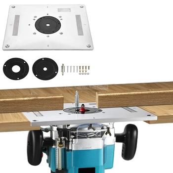 Uniwersalna elektryczna frezarka do drewna maszyna do przycinania odwróć płytkę przewodnik stół Router płytka stołowa do obróbki drewna stół warsztatowy tanie i dobre opinie Electric wood milling trimming machine Flip Plate