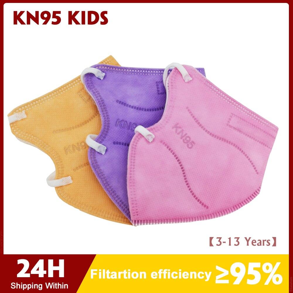 CE FFP2 KN95, Детские маски KN95, защитная маска для лица для мальчиков и девочек, Mascarillas, Испания, 24 часа, Dorpshipping