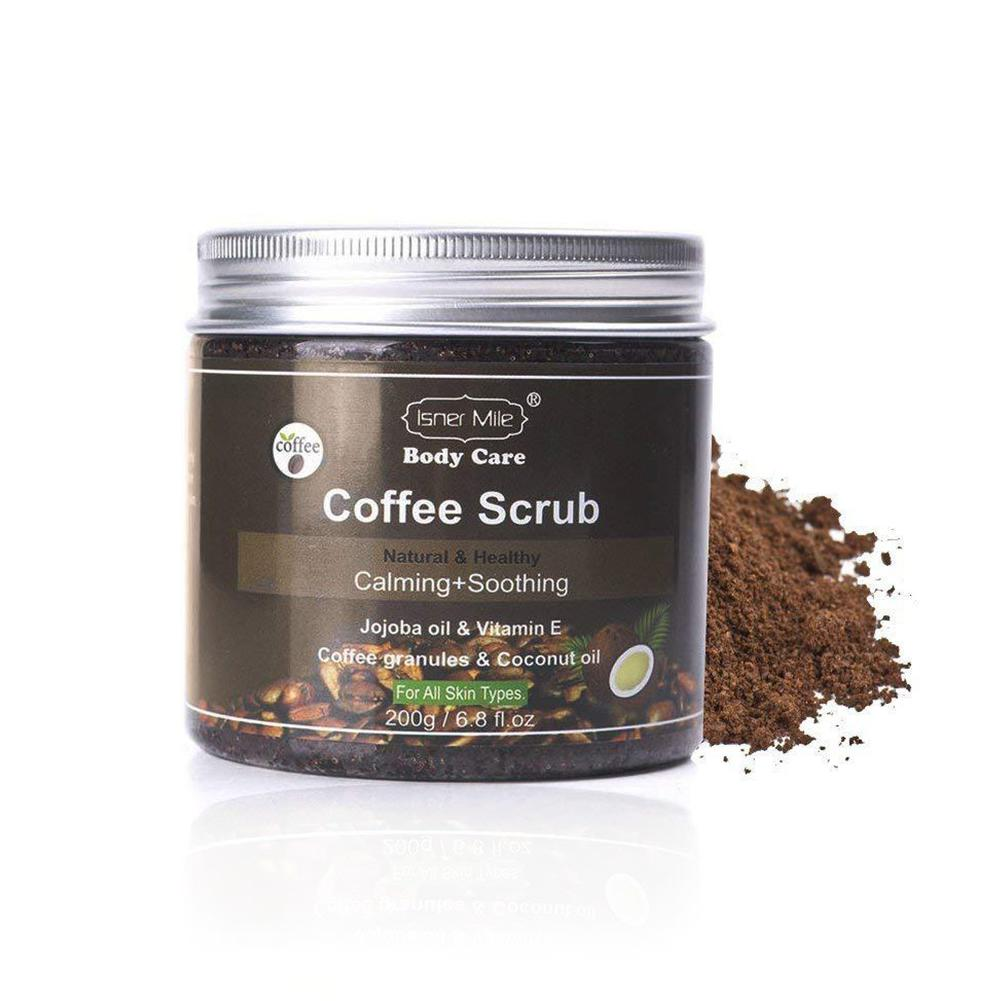 Coconut Shell Body Coffee Scrub Skin Exfoliator Deep Cleansing Body Particles