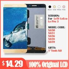 5.5 ekran için LeTV LeEco Le Pro 3X650 LCD dokunmatik ekran ile Leeco X651 X656 X658 X659 sayısallaştırıcı yedek parçaları 1920x1080