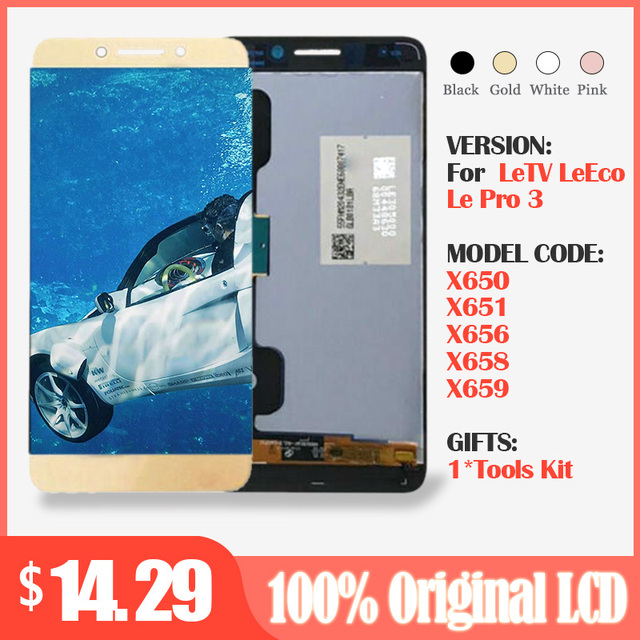 Pantalla de 5,5 pulgadas para LeTV LeEco Le Pro 3 X650 LCD con pantalla táctil Leeco X651 X656 X658 X659, piezas de repuesto para digitalizador 1920x1080