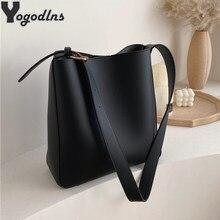 Sacs en Composite en cuir Pu Vintage pour femmes, sacoches de grande capacité, sac à main seau de luxe solide, fourre-tout