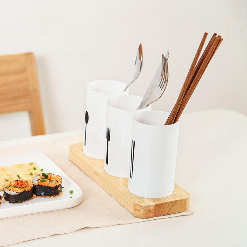 Spoon Chopsticks Fork Storage Drying Rack Tool Holder Kitchen Decoration Supplies Rack Home Items Kitchen Accessories Organizer in Racks Holders from Home Garden
