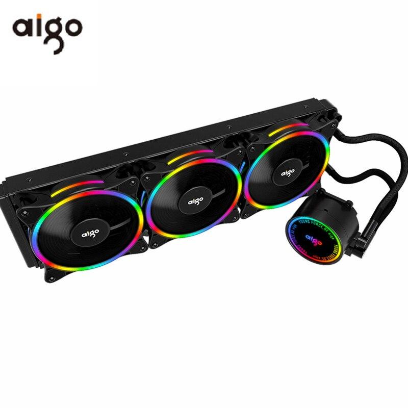 Чехол Aigo PC 120 240 360 мм охлаждающий вентилятор для жидкой воды CPU кулер rgb радиатор интегрированный радиатор LGA 2011/1151/1155/AM3 +/AM4 AMD