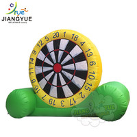 Hot Sale High Huge Yellow Green Inflatable Dart Board Outdoor Stands Game Kids Adult Entertainment Sports Football Soccer Darts