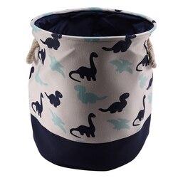 Корзина для хранения холста с рисунком динозавра для игрушек, складная корзина для белья, органайзер для грязной одежды