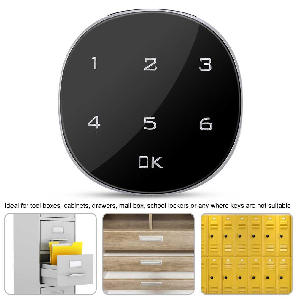 Touch Keypad Digital Coded Lock for Cabinets Drawers School Lockers Zinc Alloy