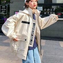 Vestes à capuche pour femmes, manteaux surdimensionnés Chic Hip-hop, Style coréen, vêtements d'extérieur quotidiens, rétro Ulzzang BF Harajuku, nouvelle collection