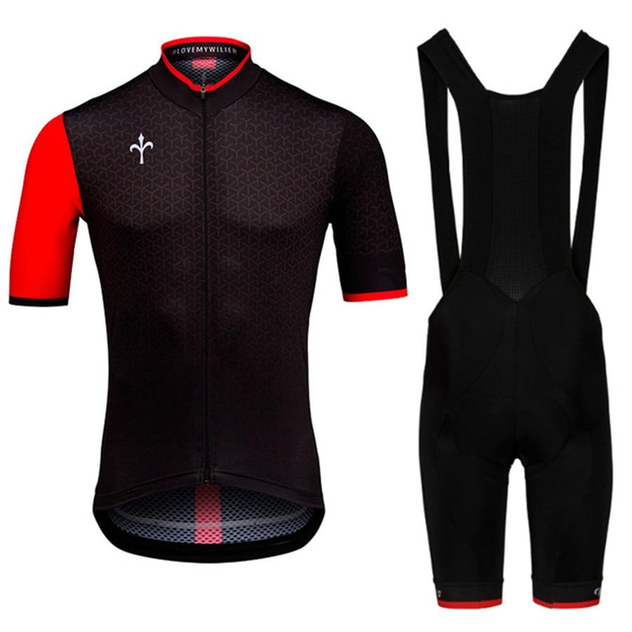 2020 Wiliing Pro Team Cycling Club Jersey High Quality Bibshort For Summer Race Mountain Road Bike Clothes Mtb Bib Short Sets