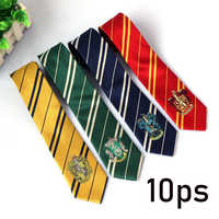 Wholesale 10 PCS / lot Necktie Gryffindor Slytherin Hufflepuff Ravenclaw Harri Ties Hermione Granger Cosplay Costume