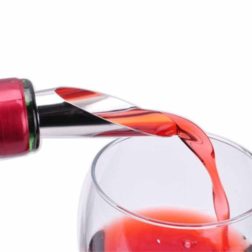 สแตนเลสสตีล Stopper Red Wine Aerator เทขวดเหล้า Pourer Aerating Wine อุปกรณ์เสริม