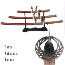 Set swords carbon steel katana sword tanto wakizashi katana