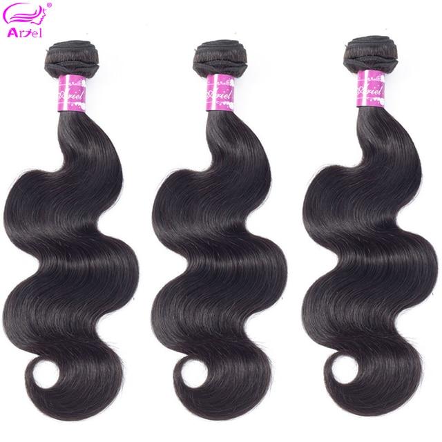 """Ariel Peruanische Körper Welle Bundles 3 teile/los Natürliche Farbe Nicht remy 8 """" 28"""" 100% Menschliches Haar extensions 3 Bundles Haarwebart Bundles"""