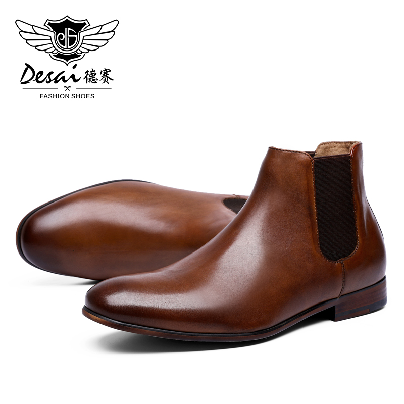 Image 2 - DESAI Manufacturer Oxford Wedding Gentleman High Quality Leather Shoes Boots For Men 2019-in Work & Safety Boots from Shoes