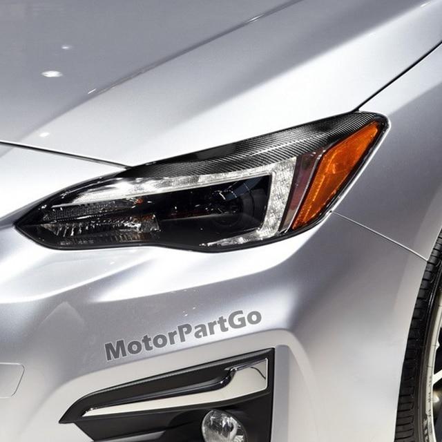 Real Crabon Fiber Head light Eyelid Eyebrow Cover Trim 1pair for  Subaru Impreza 11th Generation 11 2015-2019 T217 5