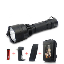 T6 Rechargeable Led Flashlight Torch Light By 1X18650 Ultra Bright  Waterproof 4 Modes Led Torches for Outdoor Hunting Camping 16 xml t6 led 8000lm ultra bright waterproof flashlight torch 4 modes light by 18650 rechargeable battery for hungting fishing