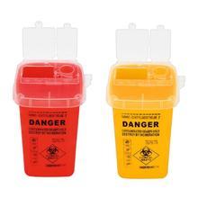 Sharps Bin Medical Collection Box  Biohazard Piercing Capacitance Sharp Durable Needles Tattoo Collect Bucket Waste Box