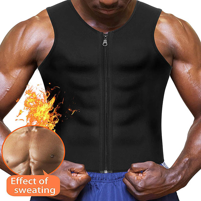 2020 Men Waist Trainer Vest for Weightloss Hot Neoprene Corset Body Shaper Zipper Shapewear Slimming Belt Belly Men