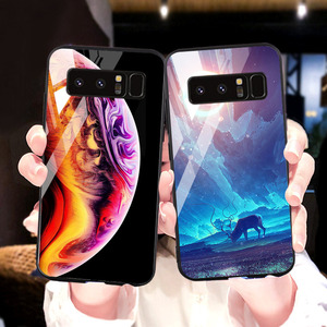 Image 2 - Tempered Glass Case For Samsung Galaxy S10 Cases Star Space Fundas  Samsung Note 20 Ultra S20 10 Lite S8 S9 Plus S10e 8 Covers