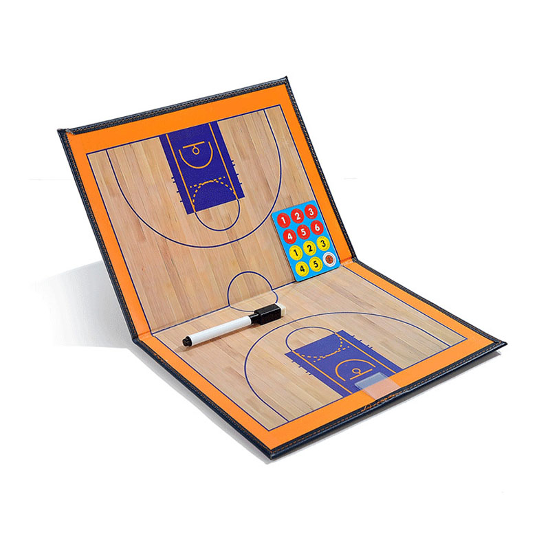 2 Style Basketball Tactics Board  Professional Double-sided Coaches Tactics Board Basketball Coaching Board Basketball Accessory
