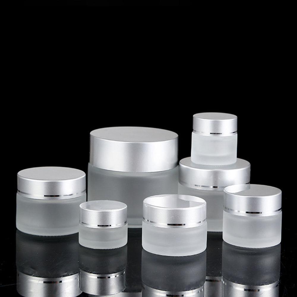 Frosted Glass Refillable Ointment Bottles Empty Cosmetic Jar Pot Eye Shadow Face Cream Container Glass Dispensing Empty Bottles