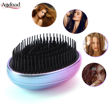Colorful Portable Anti-static Hair Massage Comb Electroplate Anti Loss Hairbrush Plastic Massager Health Care