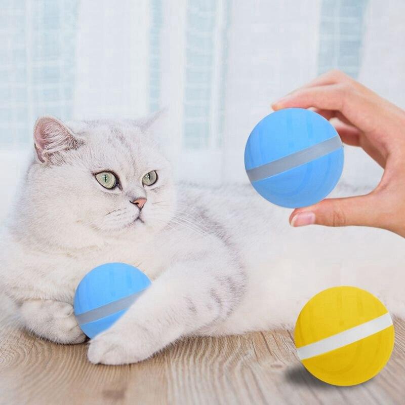 Brinquedos para animais de estimação Magia Rolo Pet Bola De Brinquedo Bola USB Elétrica LED Flash Rolando Bola Pet Brinquedo Bola Saltar Brinquedos Divertidos para Filhote de Cachorro cães Gatos
