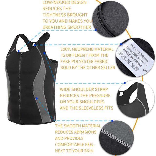 Men Workout Waist Trainer Abs Abdomen Shapewear Tummy Slimming Sheath Sauna Body Shaper Trimmer Belt Slimming Tops Sweat Corset 4