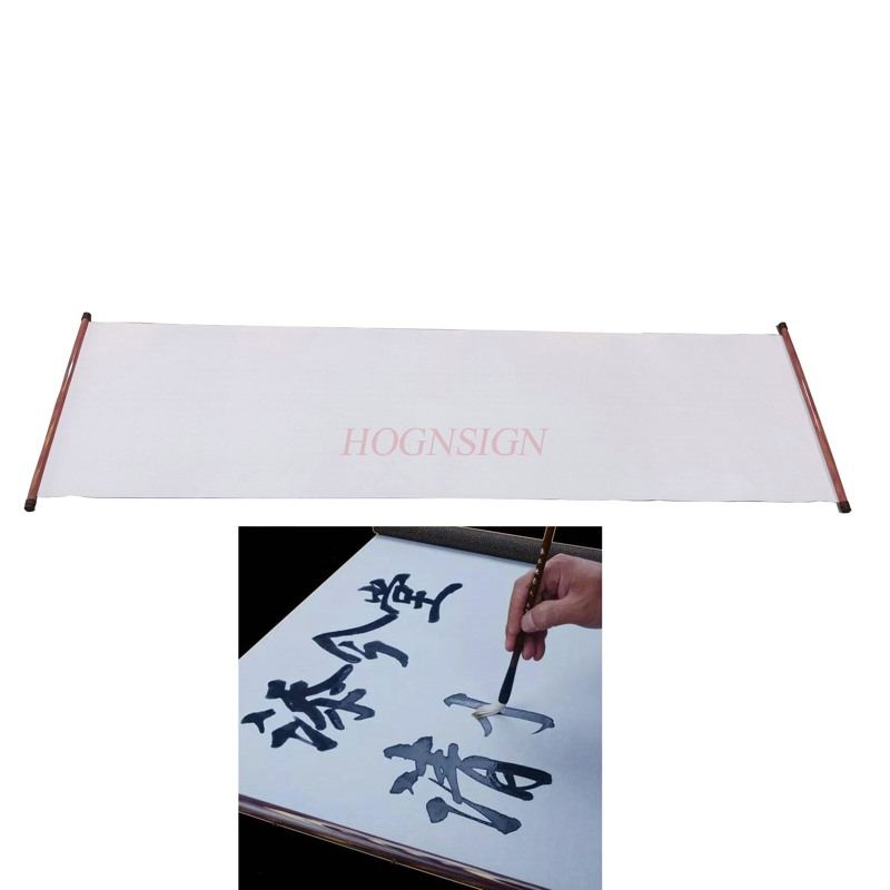 Students present Reusable Chinese Magic Cloth Water Paper Calligraphy Fabric Book Notebook