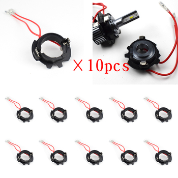 10Pcs H7 Led Adapter For Volkswagen MK5 Jetta GOLF 5 Auto Parts Base Headlight Holder With Wire D119A Dyoung Car Lights Factory image