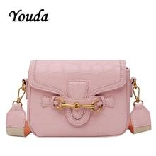 Youda 2019 New Summer Literary Retro Solid Color Saddle Bag Simple Original Messenger Tote Fashion Classic Sweet Handbag