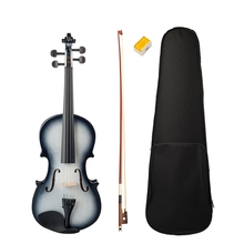 4/4 Violin High Gloss Finish 4/4 Violin Black and White Beginner Violin