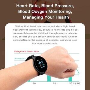 Image 3 - 2019ブルートゥーススマート腕時計メンズ血圧ラウンドスマートウォッチ女性腕時計防水スポーツトラッカーwhatsappアンドロイドios用