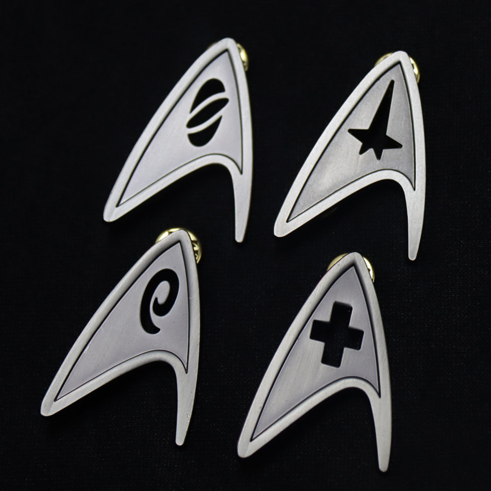 Command Division Badge Star Cosplay Trek Starfleet Brooch Science Engineering Medical Pins Metal Accessories Costume Props
