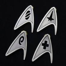 Command Division Badge Star Cosplay Trek Starfleet Brooch Science Engineering Medical Pins Metal Accessories Costume Props