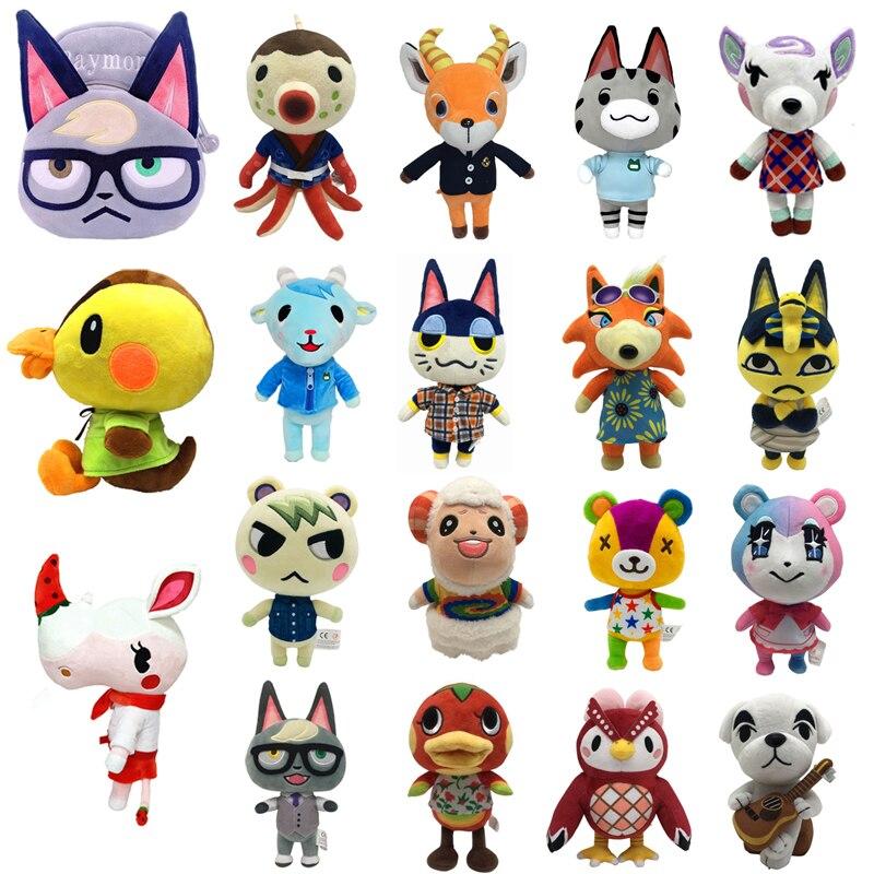 1pcs Animal Crossing Plush Toy Dolls Cartoon Raymond New Horizons Soft Stuffed Plush Dolls Gifts for Children Kids