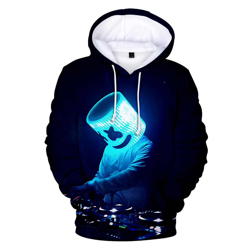 Hoodie Candy-Band Dj Marshmello 3D New-Style Cotton Print For Baida Digital Cross-Border