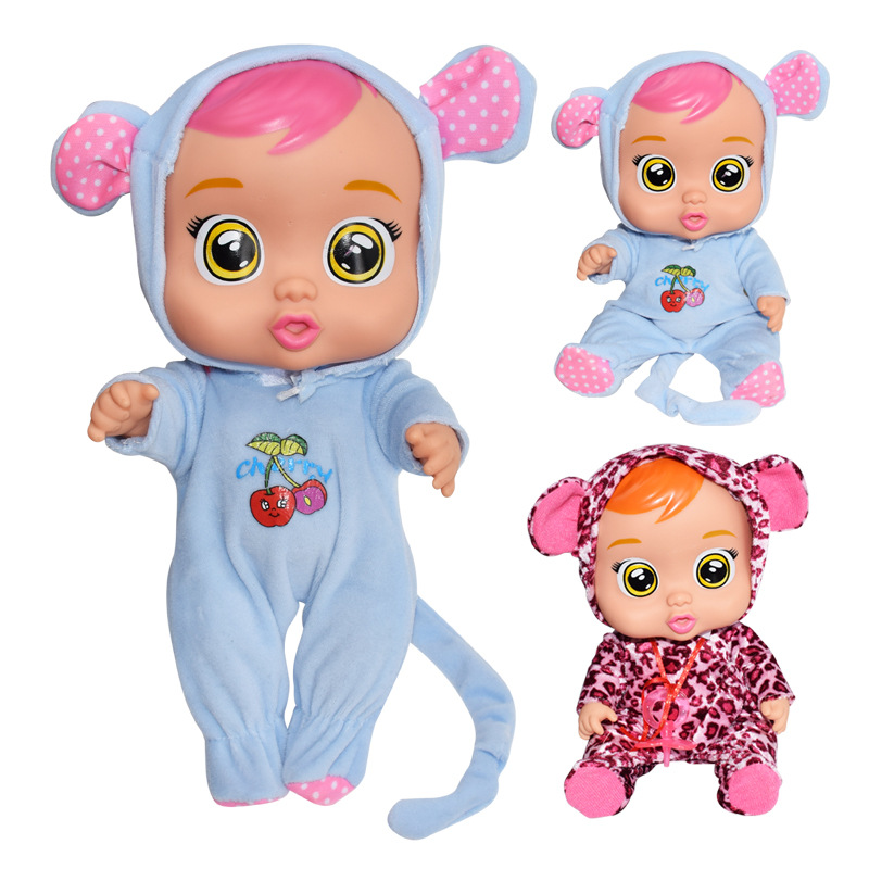 Silicone Reality Crying Baby Pretend To Play Electronic Music Weeping Doll For Children Birthday Gift