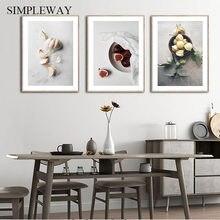 Fruits légumes nourriture et boisson toile peinture cuisine affiche imprimer mur Art décoration photo salle à manger Restaurant décor