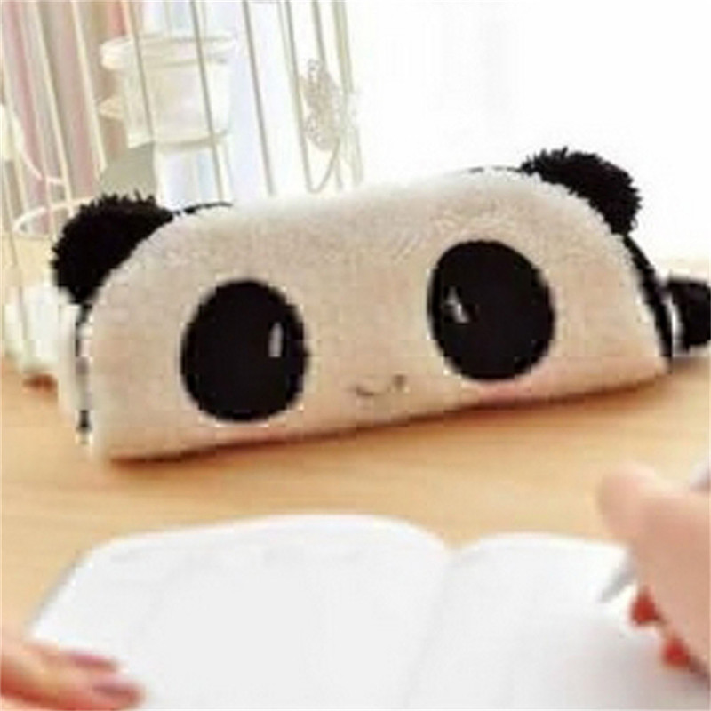 Korean Style Toiletry Bags Travel Panda Plush Cosmetic Bag Small Organizer Women Makeup Bag Make Up Case Beauty Storage Wash Bag