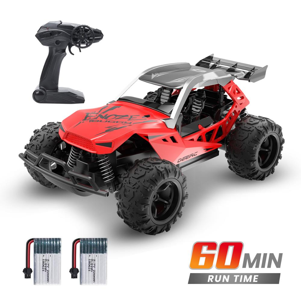 DEERC 1:22 Racing RC Car Rock Crawler Radio Control Truck 60 Mins Play Time 20 KM/H 2.4 GHz Drift Buggy Toy Car For Kids